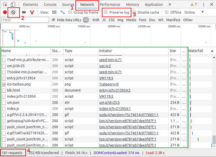 chrome浏览器开发者工具f12